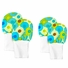 Stay On Baby Mittens Set of 2 Sizes (0-6m & 6-12m) - Green and Blue Dots
