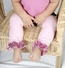 Sophia's Sparkly Baby Leg Warmers Set of 3 - Pink, Black, White - Final Sale