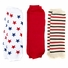 Baby Leg Warmers Set of 3 - Landon's Little Firecracker Red, Stars, Striped