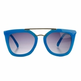 Susie's Little Girl Gold Bar UV400 Sunglasses - Blue