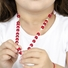 Pearl Ribbon Bow Necklace - Red and White