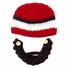 Large Beard Beanie - Red Lumberjack Beard Hat for kids and young adults. Soft, stretchable beard beanie hat size is 18 inches.