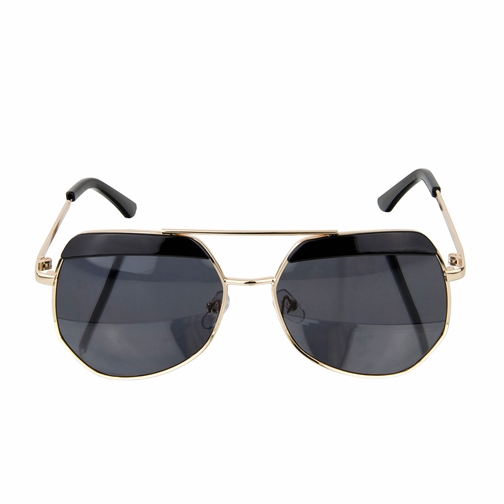 Kids UV400 Aviator Style Sunglasses with Gold Frame and Black lens - (ages 5+)