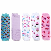 Sylvie's Girl Legging Set of 5 - Polka Dots, Princess, Rainbows, Cupcakes