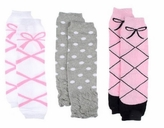 Baby Ballerina Leg Warmers Set of 3 - Pink Ballet