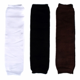 Baby Leg Warmers Solid Colors Set of 3 - Black, White, Brown