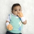 No Scratch Stay On Baby Mittens - Orange Dots  (0-6m)
