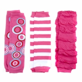 *SOLD OUT*Pretty in Pink Baby Girl Leggings Set of 3 - Circles, Stripes, Pink Ruched