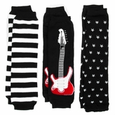 *SOLD OUT*Axel's Rockstar Baby Leg Warmers Set of 3 - Guitar, Stars, Striped