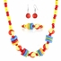 Little Girl Wooden Jewelry Set - Necklace, Bracelet, and Earrings