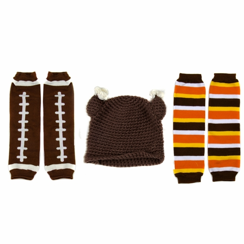 Little Kid Thanksgiving Leggings and Turkey Hat Set (Ages 2- 4)