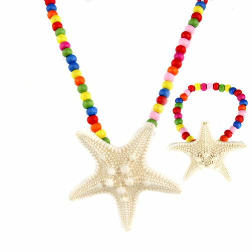 Riley's Little Girl Starfish Necklace and Bracelet Set