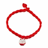 Little Girl Red Silk Rope Lucky Pig Charm Bracelet
