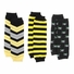 Bruce's Baby Boy Legging Set of 3 - Black and Yellow Chevron, Stripe, Pirate Skull