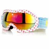 Kids' Ski Goggles - Red Hearts