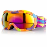 Kids' Ski Goggles - Orange Flowers