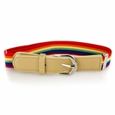 Kids' Striped Adjustable Elastic Belt - Multicolor