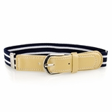 Kids' Striped Adjustable Elastic Belt - Navy