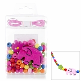 Little Girl DIY Necklace Craft Kit - Elephant