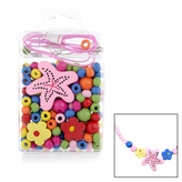 Little Girl DIY Necklace Craft Kit - Starfish