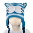 Medium Cat Beanie - Blue Cat Earflap Hat for Toddler and kid. Stretchable earflap beanie size 16 inches.
