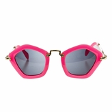 Polarized Pink Pentagon Frame Toddler Sunglasses