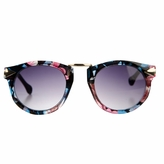 Alannah's Little Girls Fashion Round Frame UV400 Sunglasses - Printed