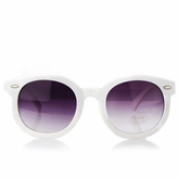 Hana's Vintage Style White Anti-UV Sunglasses for Kids