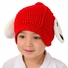 Large Puppy hat - Red Puppy Dog Hat with Floppy Ears