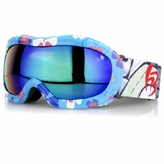 Kids' Ski Goggles - Blue Flowers