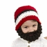 Small Beard Beanie - Red Lumberjack Beard Hat for baby and toddler. Soft, stretchable beard beanie hat size is 14 inches.