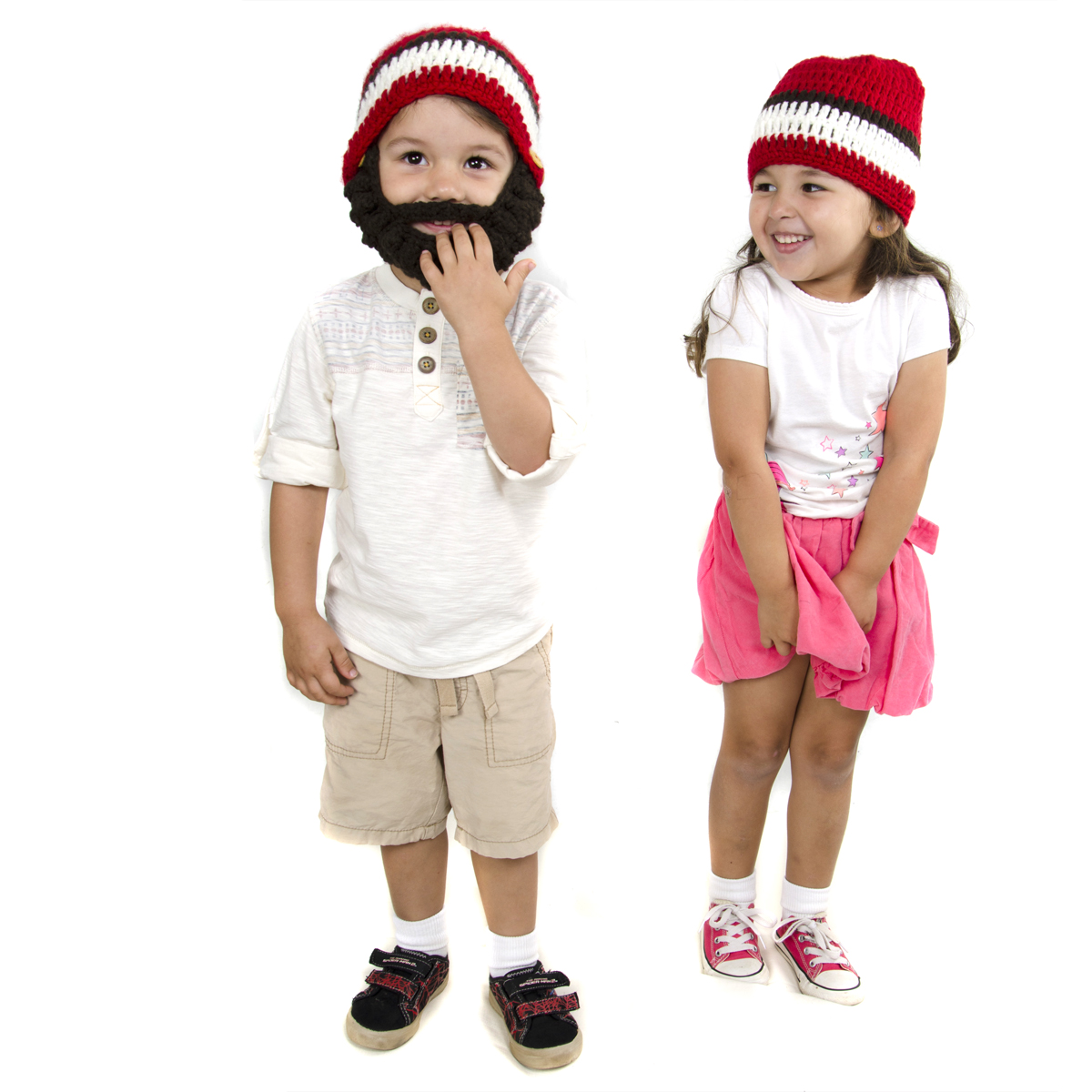 fa1efd7eed4 Small Beard Beanie - Red Lumberjack Beard Hat for baby and toddler. Soft