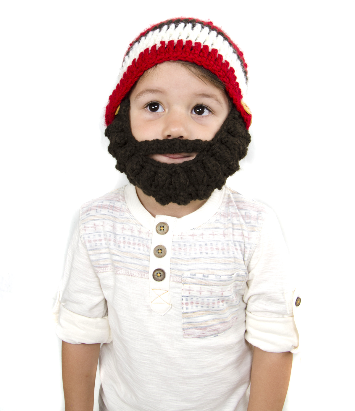062ac757d90 Small Beard Beanie - Red Lumberjack Beard Hat for baby and toddler. Soft