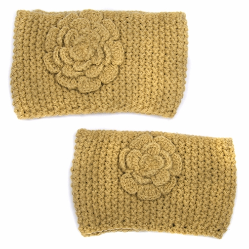 Tan Mommy and Me Headband Set - Girl Toddler Kid Adult