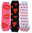 Kaylee's Valentine Baby Leggings Set of 3 - Hearts and Lips - Final Sale