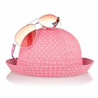Little Girl's Pink Hat and Sunglasses Set