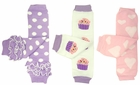 Birthday Girl Baby Leg Warmers Set of 3 - Cupcakes, Hearts, Polka Dots - Final Sale