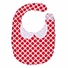 Baby Bib - Red Cross Flower