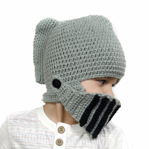 Grey Knights' Helmet Beanie - Baby Girl Boy Toddler (Small)