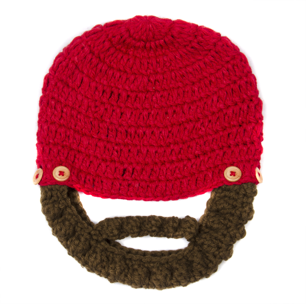 9f87cf6fca6  SOLD OUT Red Beanie with Beard - Boy Girl Toddler Kid (Large). Roll Off  Image to Close Zoom Window