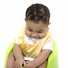 Baby Bib - Yellow Anchor Print with waterproof lining - Final Sale