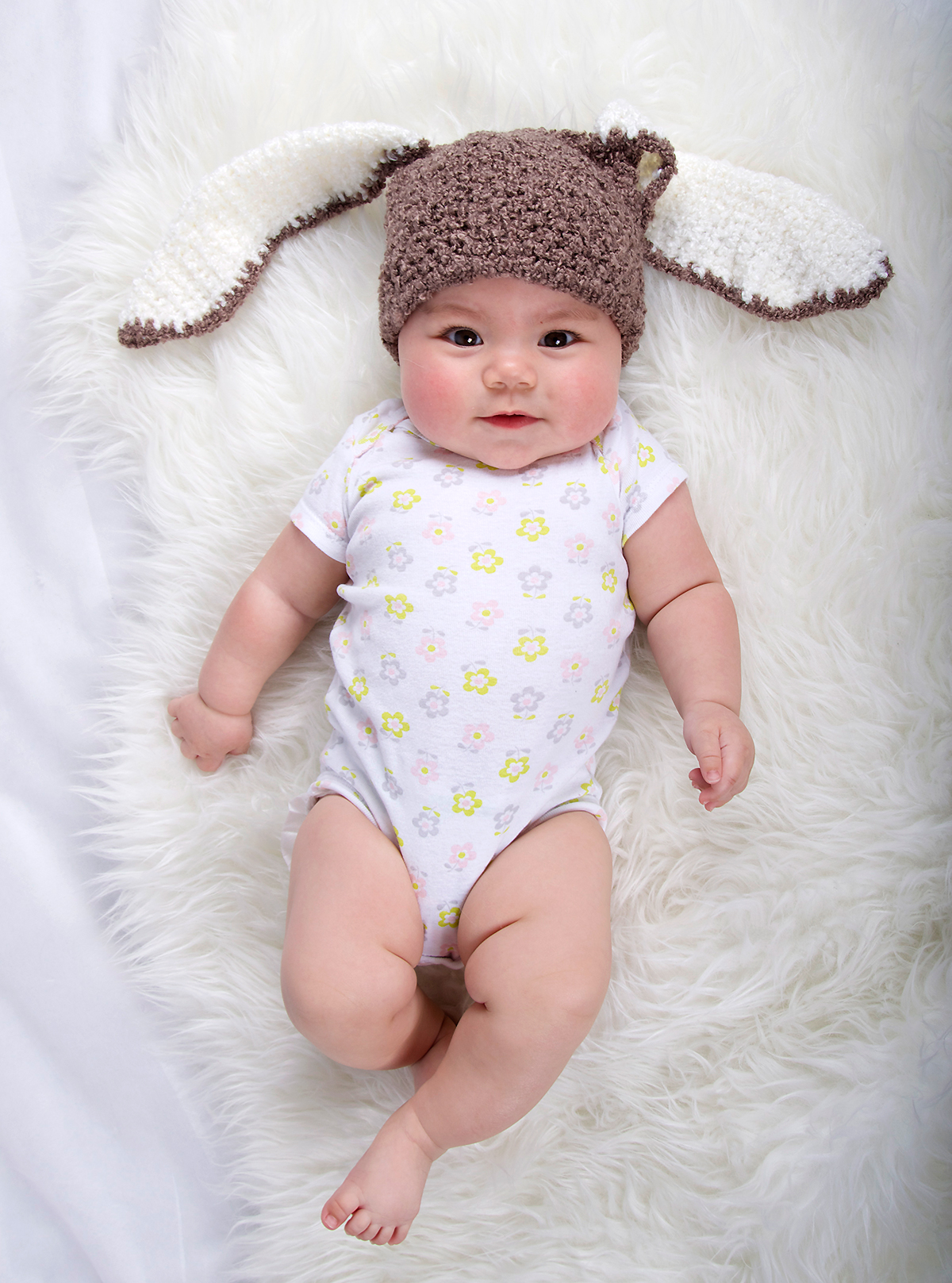 005caf107 Small Bunny Beanie - Premium Brown Bunny Hat with Ears for baby and ...