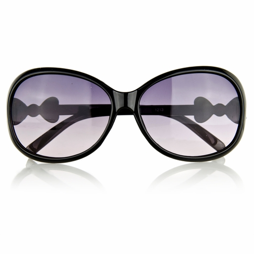 Little Girl's Fashion Sunglasses with Bow - Black