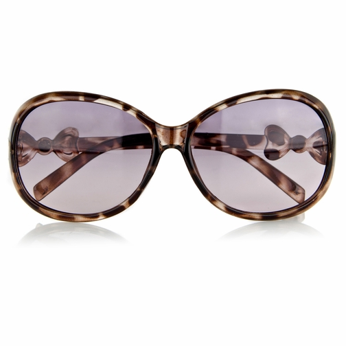 Little Girl's Fashion Sunglasses with Bow - Brown