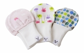 Baby Mittens - Newborn size 0-6 months, Cotton Gauze, Value Pack Set of 3 - Bows, Bunnies, Polka Dots, Soft stay put cuffs! Ideal Baby Gift!