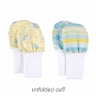 No Scratch Baby Mittens: Blue and Yellow Set of 2, Size 6 - 12 months
