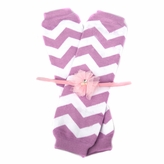 Mandee's Purple Chevron Leggings and Headband Gift Set