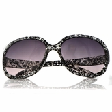 Adele's Toddler Girl Black Print Fashion Sunglasses