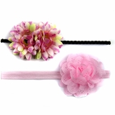 Celine's Pink Mommy & Me Matching Flower Headband Set