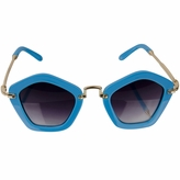 Hailey's Little Girl Sky Blue Pentagon Frame UV400 Sunglasses